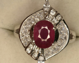 Natural glass filled Ruby beautiful Ring