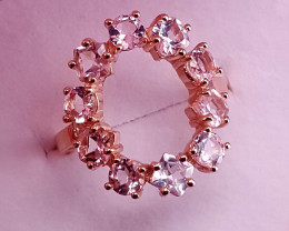 Natural Morganite Ring.