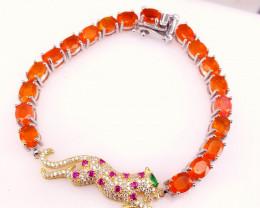 Leopard Orange Opal bracelet.