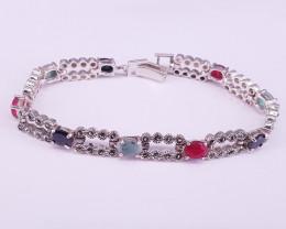 Mix Stones Bracelet in Silver 925.