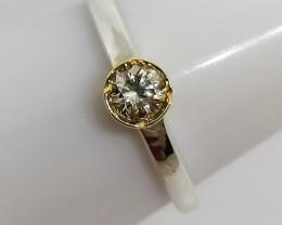 Diamond Solitaire Ring 0.27ct.
