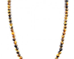 Genuine 185.00 Cts Golden Tiger Eye Necklace