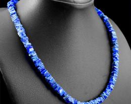 Genuine 235.00 Cts Blue Lapis Lazuli Necklace