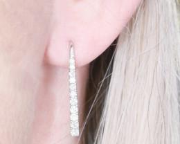 18ct White Gold Drop Harlow Earrings