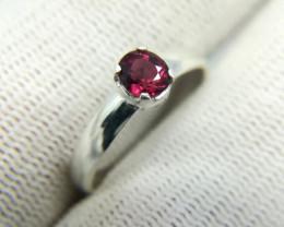 Natural Purple Rhodolite Garnet 8.20 Carats 925 Silver Ring N08