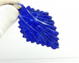 Natural Blue Leaf Lapis Lazuli 82.55 Carats Pendant