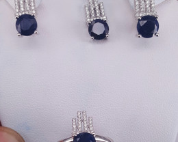 Natural sapphire beautiful set