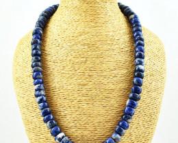 Genuine Blue Sodalite Beads Necklace