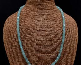 Genuine 115.00 Cts Blue Apatite Necklace