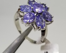 Natural Tanzanite Silver 925 Ring