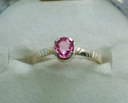 Natural Pink Spinel 925 Sterling Silver Ring