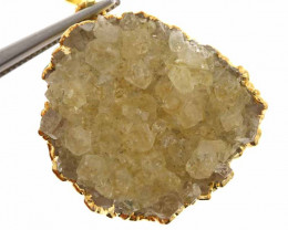 55 cts CITRINE CRYSTAL GOLD PLATED PENDANT SJ-1131