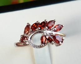 Natural Garnet Ring.