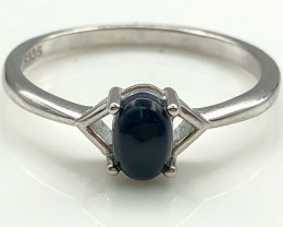 8.44 Crt Natural Opal 925 Sterling Silver Ring AB (01)