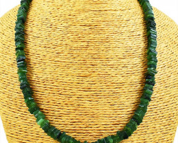 230.00 Cts Green Jade Beads Necklace