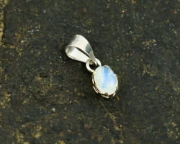 Stunning Genuine Moonstone Pendant In Silver