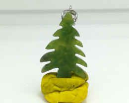Natural Green Dots Grossular Tree 19.55 Carats Pendant N18