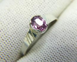 Natural Purple Spinal 6.80 Carats Silver Ring