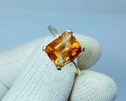 Natural Champagne Topaz Silver Ring