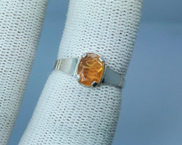 Natural Yellow Opal  Silver Ring