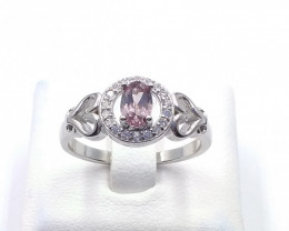 NATURAL COLOR CHANGED GARNET 925% SILVER RING D 36