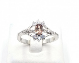 NATURAL COLOR CHANGED GARNET 925% SILVER RING D 37