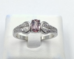 NATURAL COLOR CHANGE GARNET 925% SILVER RING D 38