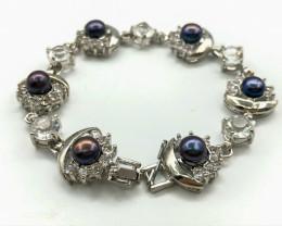 100 Crt Natural Fresh Water Pearls Bracelet
