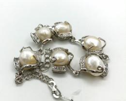 105 Crt Natural Fresh Water Pearls Bracelet