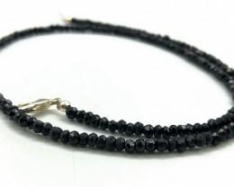 50.33 Crt Natural Black Spinel Necklace