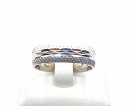 STERLING  SILVER PLAN RING 925% E 18