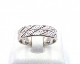PLAN RING WITH 925 SILVER E 19