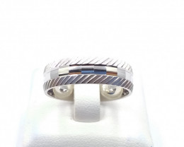 STERLING SILVER PLAN RING 925% E 21