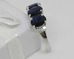 Sapphire and Diamond Ring 3.05 TCW