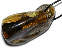 120 Cts  Baltic Amber Pendant  Necklace, direct from Poland AM 1883