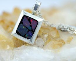 Bright Mosaic Triplet Opal Pendant emerald Shape BU 2560