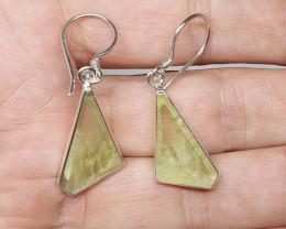 12.25cts Prehnite Earrings (JNRA-PR2028)