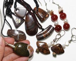 Parcel opal pendants ,earrings a s per images BU 2585