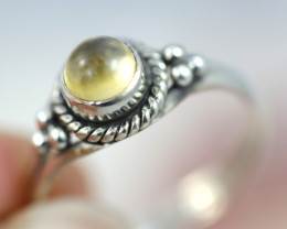 Natural Citrine   Silver Ring size 7- BU 2608