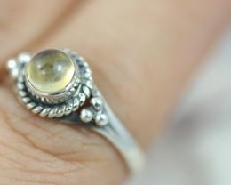 Natural Citrine   Silver Ring size 7.5 - BU 2609