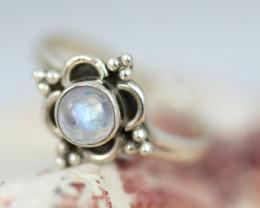 Natural Moonstone  Silver Ring size 5.5 - BU 2610