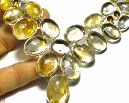 658.0 Natural Citrines, Sterling Silver Necklace - Gorgeous