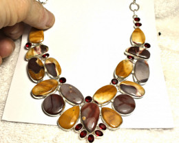 441.0 Tcw. Mookaite Jasper, Sterling Silver Necklace - Gorgeous