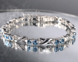 Blue Swiss Topaz  925 Silver Bracelet by DANI Jewellery