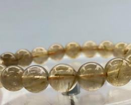 124.5 Crt Natural Rutile Quartz Bracelet