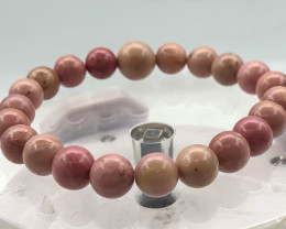 96.5 Crt Natural Pink Opal Bracelet