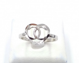 STERLING  SILVER PLAN RING 925% F 4