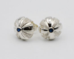 Sterling Silver & Sapphire Earrings