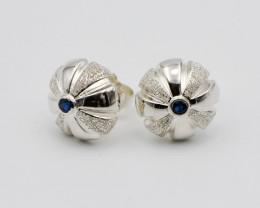 Sterling Silver & Sapphire Earrings