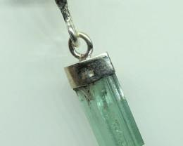 Natural Tourmaline Damage Free Rough Crystal 925 Silver Pendant